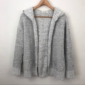 GAP Open Front Knit Hooded Sweater